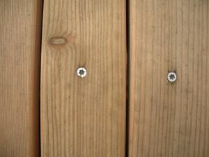 Holzdeck Verschraubung von oben